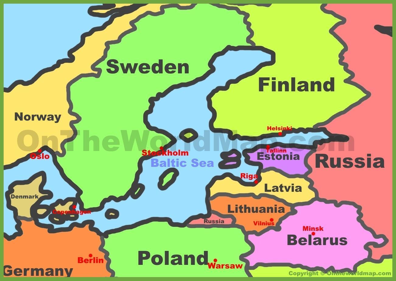 Bản đồ ba nước vùng Baltic