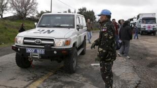 Филиппинский миротворец на израило-сирийской границе, 5 марта 2013.