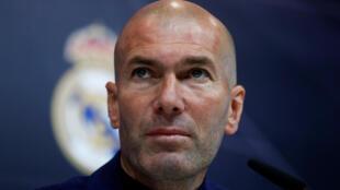 Zinedine Zidane, en conférence de presse.