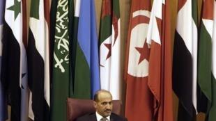 Ahmad Jarba, presidente da Coalizão Nacional Síria, durante reunião no Cairo, em 3 de novembro