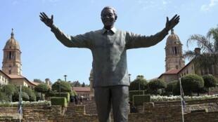 Cérémonie d'hommage à Nelson Mandela, un an après sa mort, le 5 décembre 2014, à Pretoria, en Afrique du Sud.