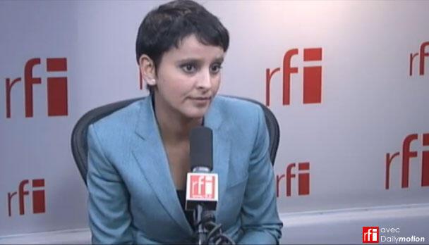 French Women Rights Minister, Najat Vallaud-Belkacem on RFI