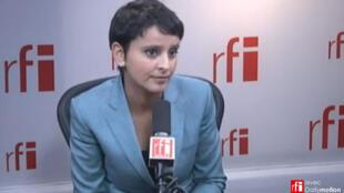 Najat Vallaud-Belkacem in RFI's studios