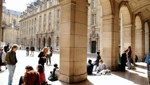 L'université de la Sorbonne à Paris (France).