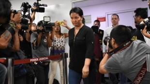 La líder opositora Keiko Fujimori llega a una Corte en Lima, el 20 de enero de 2020
