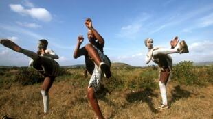 Cérémonie rituelle de l'ethnie Xhosa en Afrique du Sud.