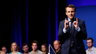 Emmanuel Macron at a rally in Anger, February 28, 2017.