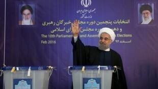 Le président Rohani, le 26 février 2016.
