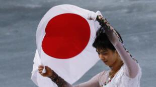Le Japonais Yuzuru Hanyu, 19 ans, sacré champion olympique de patinage artistique, à Sotchi.