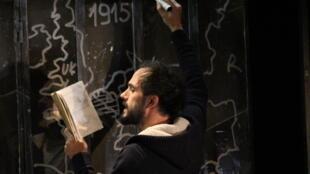 Elie Truffault, dans la pièce «Lettres à Elise» d'Yves Beaunesne.