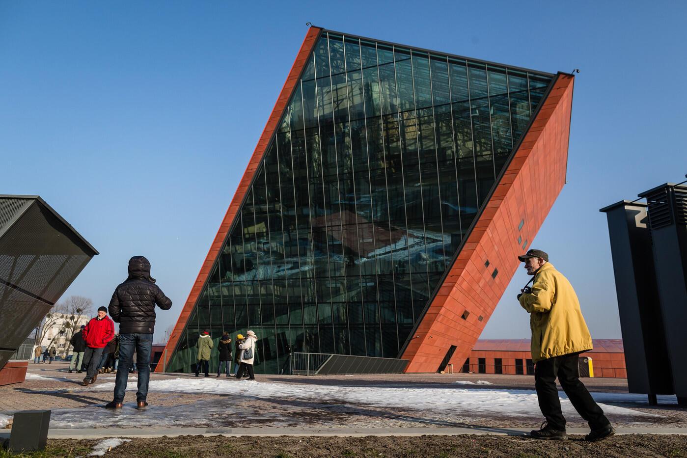 Le Musée de la Seconde guerre mondiale à Gdansk qui déplait tant au conservateurs au pouvoir en Pologne.