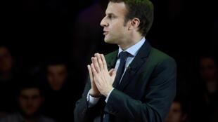 Le candidat à la présidence Emmanuel Macron, le 21 février dernier à Londres.