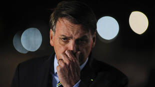 El presdidente de Brasil, Jair Bolsonaro, en rueda de prensa en Brasilia, el 16 de abril de 2020