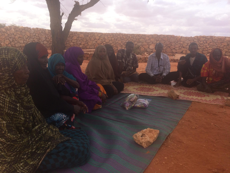Scène de vie quotidienne au camp Hoodoo à Bur Salah, Somalie.