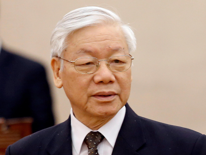 Tổng bí thư đảng Cộng Sản Việt Nam Nguyễn Phú Trọng tại Hà Nội, ngày 02/04/2018.