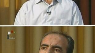 Image de la télévision syrienne montrant Hussein Harmouche, colonel de l'Armée libre de Syrie (ASL), le 14 septembre 2011.