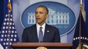 Rais wa Marekani Barack Obama, akipongeza ueteuzi wa Haidar al Abadin kuwa waziri mkuu mpya nchini Iraq.