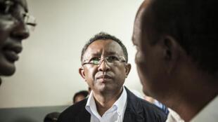 Le président malgache Hery Rajaonarimampianina en janvier 2014.