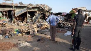 Wani yankin da yan kungiyar Boko Haram suka kai hari a Maiduguri