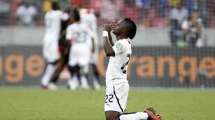Mubarak Wakaso, autor dos dois gols da vitória de Ghana sobre Cabo Verde pela CAN 2013.