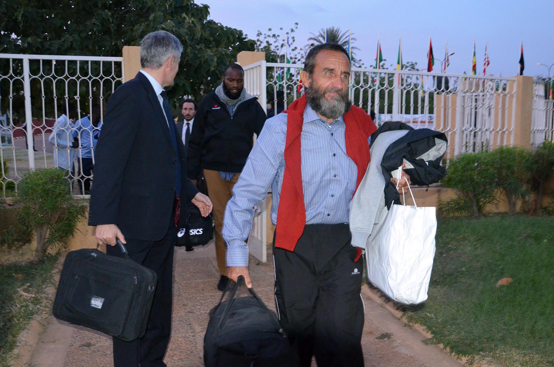 Les otages français détenus pendant trois ans au Sahel ont été libérés, le 29 octobre 2013.