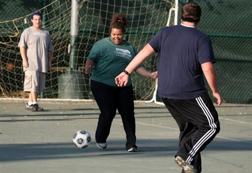 A la Wellspring Academy, une école spécialisée dans l'obésité des jeunes, à Reedley en Californie, le sport est obligatoire.