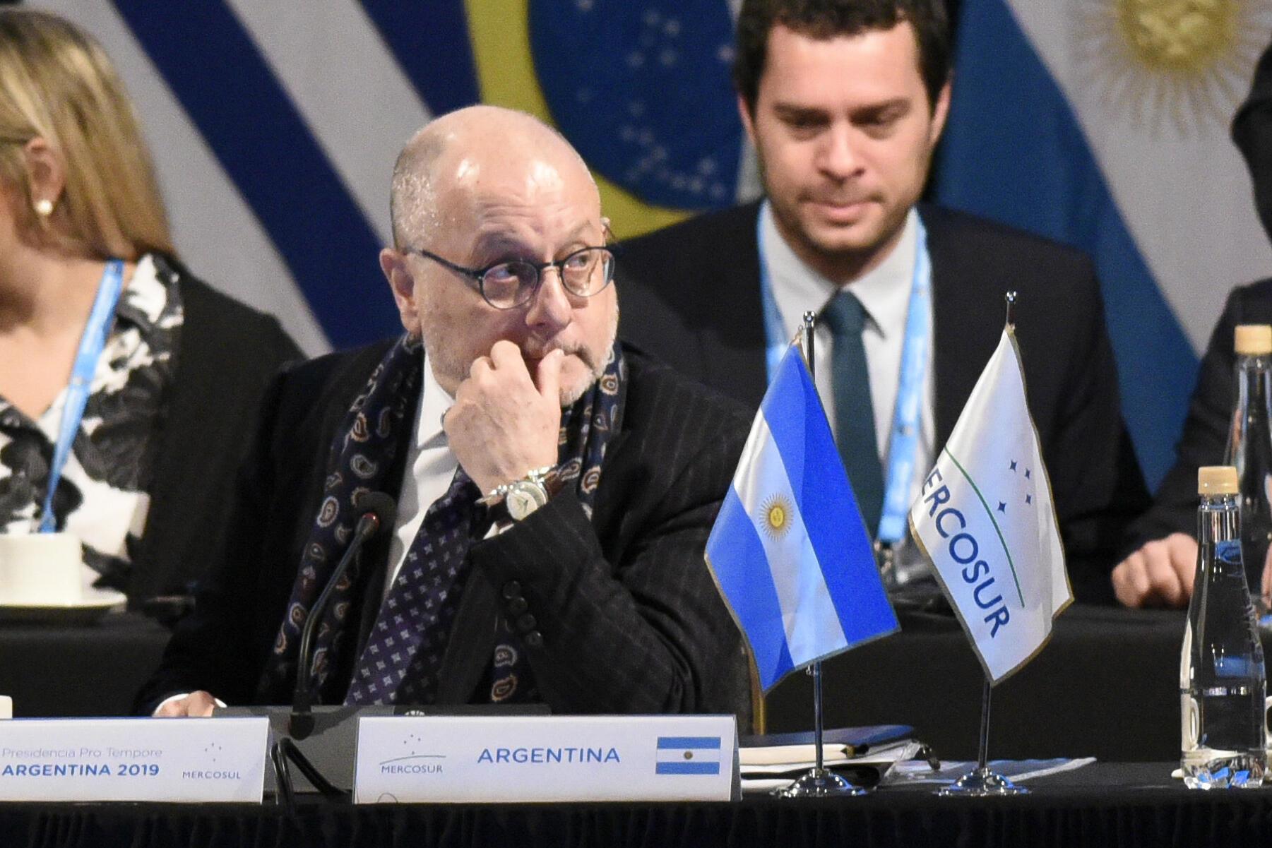 O ministro argentino das Relações Exteriores, Jorge Faurie, é otimista sobre a implementação do acordo entre União Europeia e Mercosul