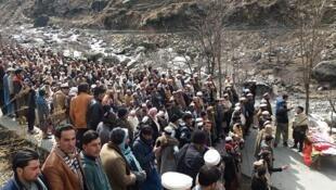 Les funérailles d'Afzal Kohistani, vendredi 8 mars 2019, abattu de cinq balles pour avoir dénoncé il y a sept ans un crime d'honneur.