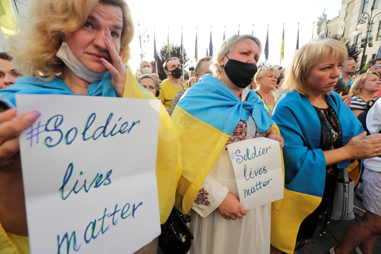 Акция против условий нового перемирия в Донбассе, Киев, 27 июля 2020 г.