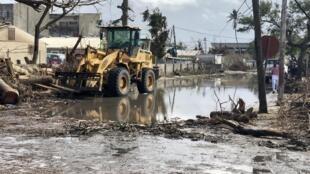 Danos causados  pelo mau tempo na cidade da Beira,  no mês de Março de 2019.