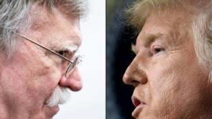 El exasesor de seguridad nacional de la Casa Blanca, John Bolton (I) dice que el presidente Donald Trump quería congelar la ayuda militar a Ucrania hasta que Kiev abriera una investigación sobre Joe Biden, el favorito para la nominación presidencial demócrata.