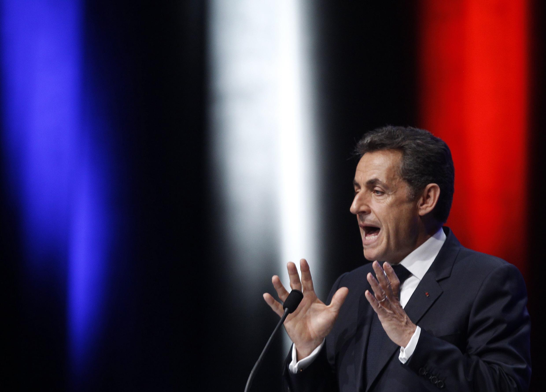 Президент Франции Николя Саркози в Тулоне 1 декабря 2011