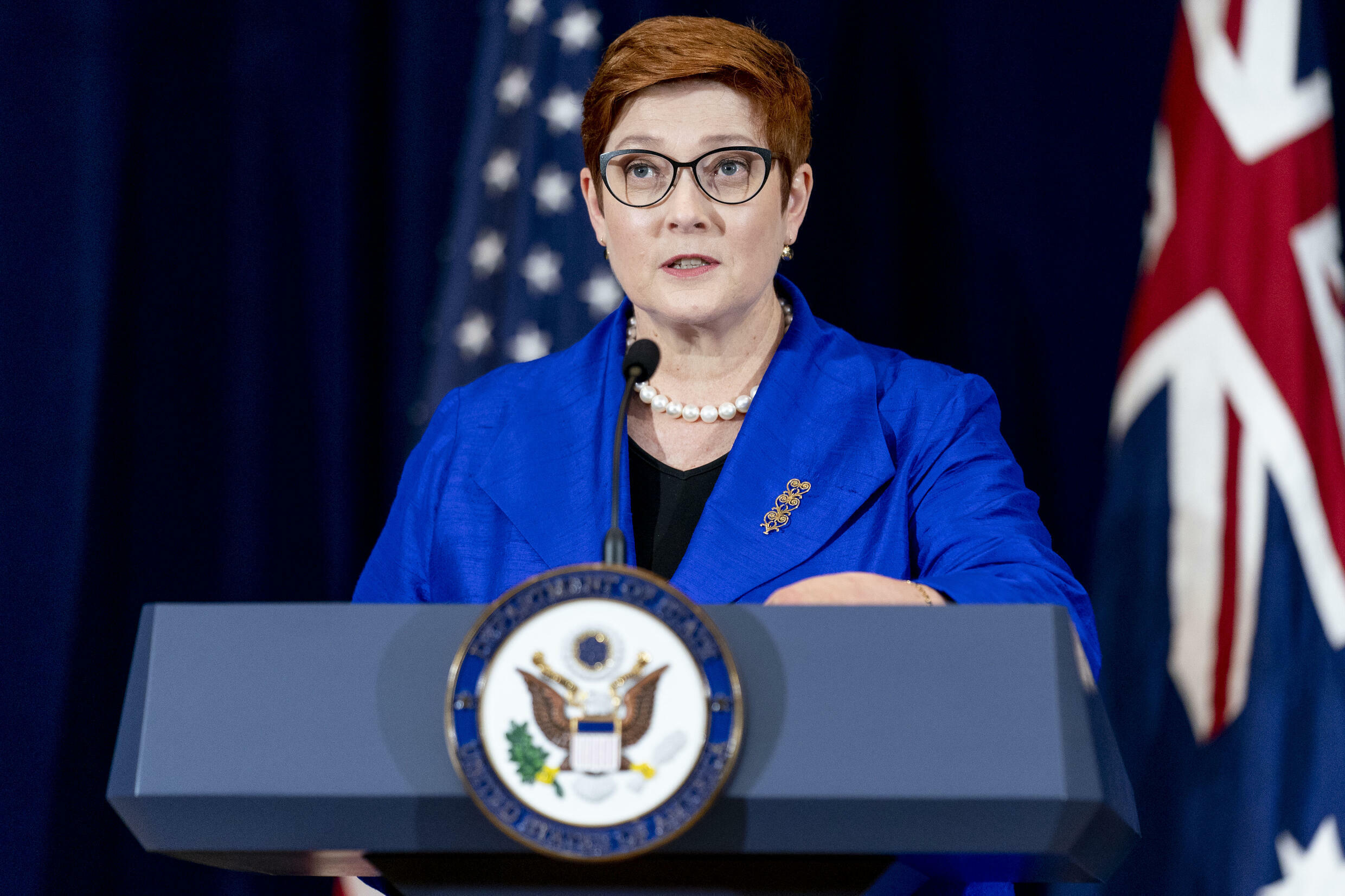 Australian Foreign Minister Marise Payne in Washington on Thursday said she understood France's 'dsappointment'