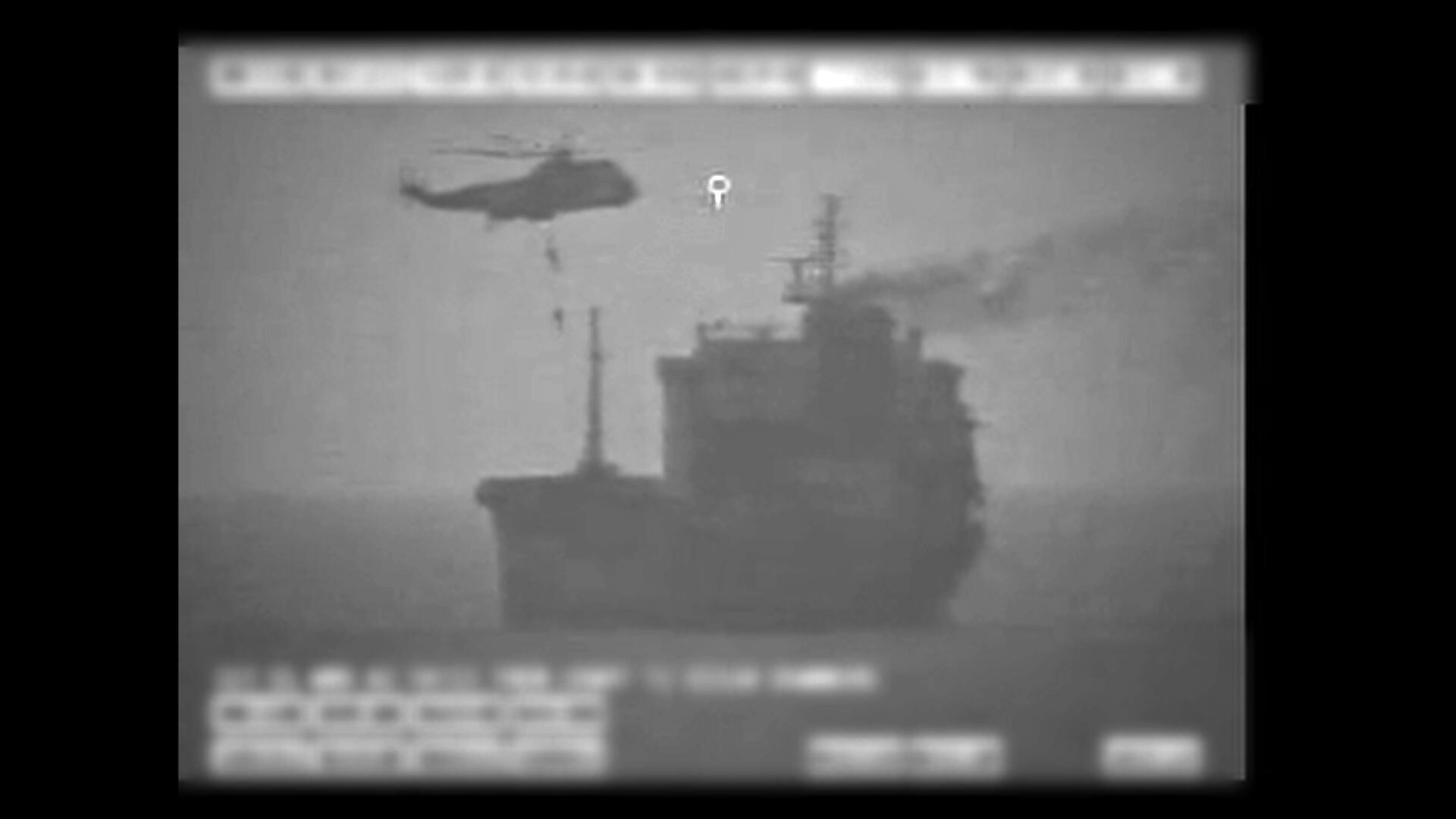 """سنتکام امروز پنجشنبه ۲۳ مرداد/١۳ اوت با انتشار یک ویدئو سیاه و سفید اعلام کرد که نیروهای ایرانی یک فروند نفتکش به نام """"ویلا"""" با پرچم لیبریا را در نزدیکی تنگه هرمز برای مدتی تحت کنترل خود درآورند."""