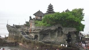 Tanah Lot, one of the major temples in Bali which is a major tourist destination