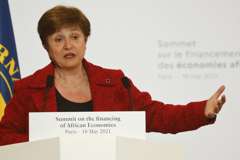 IMF Managing Director Kristalina Georgieva, pictured on May 18, 2021, said the fund supports establishing a global minimum tax