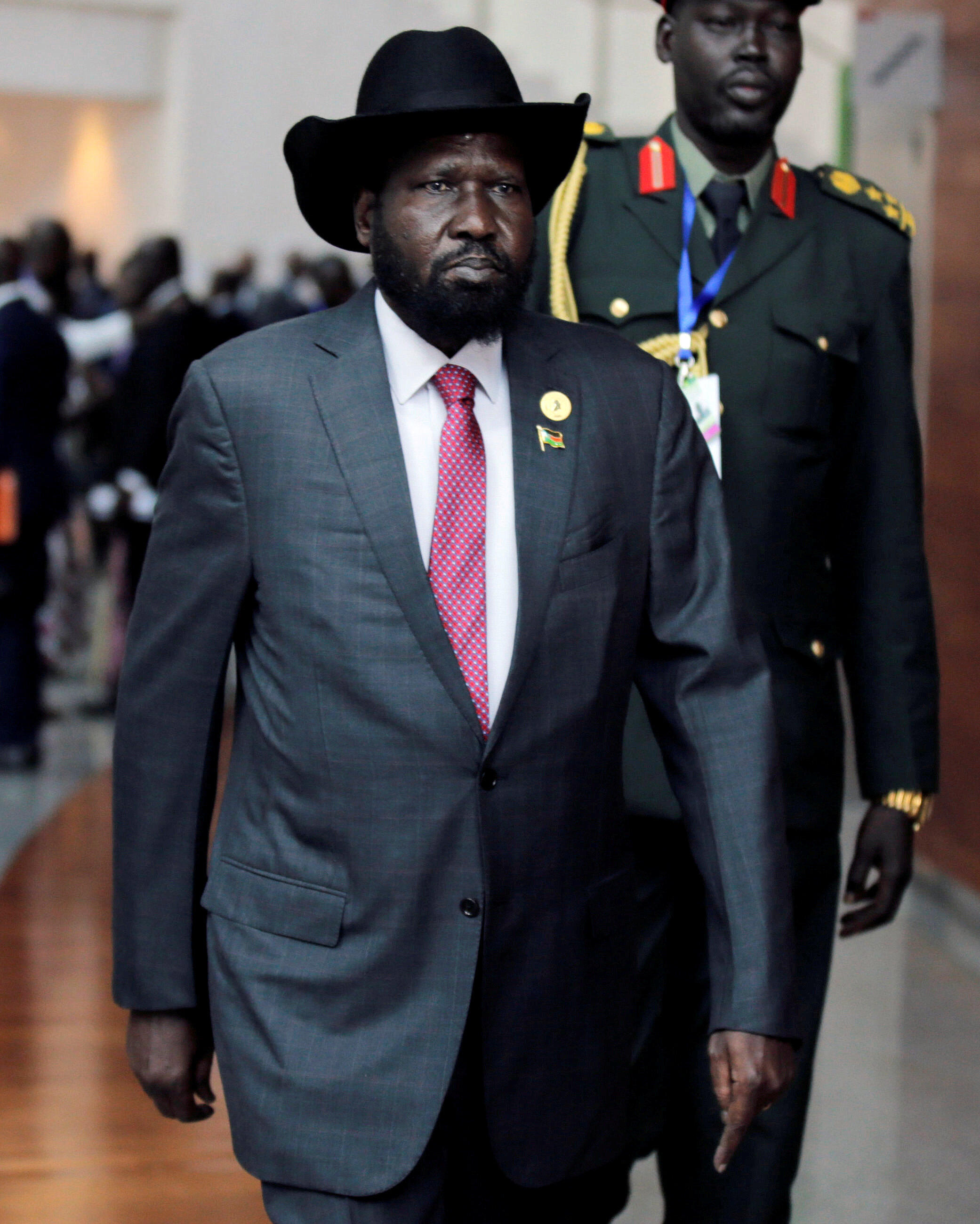 Salva Kiir le 29 janvier 2018 à Addis Abeba.