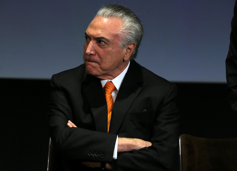 Le président brésilien Michel Temer, le 30 mai 2017 à Brasilia.