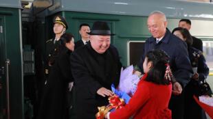 Ảnh tư liệu: Lãnh đạo Bắc Triều Tiên tới Bắc Kinh hôm hôm 08/01/2019 bằng tàu hỏa.