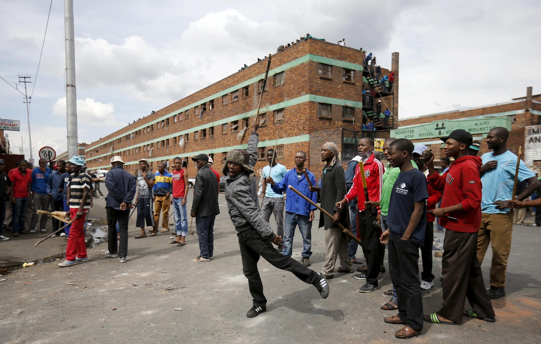 Joanesburgo foi o centro de ataques xenófobos. Violência contra estrangeiros.