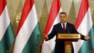 El Primer ministro húngaro Viktor Orban el 7 de abril del 2014. REUTERS/Laszlo Balogh.