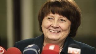 Laimdota Straujuma, le 6 janvier 2014.