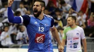 Nikola Karabatic, star et cadre de l'équipe de France de handball lors du Mondial 2015