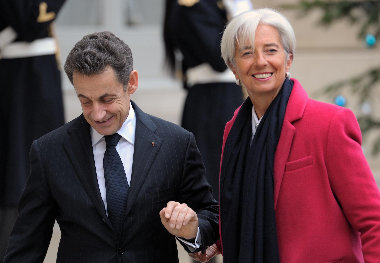 Николя Саркози встречается с главой МВФ Кристин Лагард в Елисейском Дворце. Париж 11/01/2012
