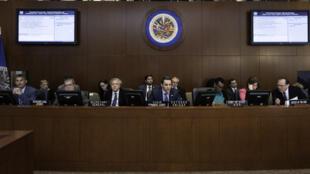 Conselho Permanente da OEA, em 9 de abril de 2019.