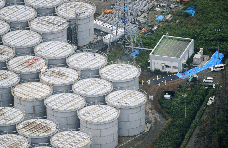 日本福島核電站俯瞰圖,2013年8月20日拍攝