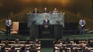 El presidente Barack Obama en su discurso ante la ONU del 23 septembre 2010