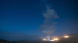 Un test de missile ballistique américains dans les îles Marshall le 4 août 2020 (image d'illustration).