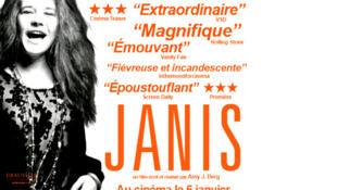 L'affiche de <i>Janis, </i>le documentaire réalisé par la productrice américaine Amy Berg.