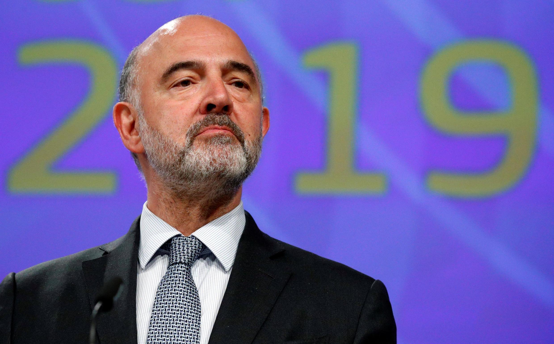 Pierre Moscovici, lors d'une conférence de presse à Bruxelles, le 5 juin 2019.